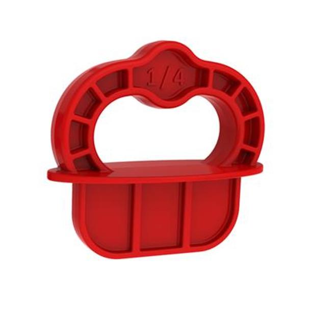 """Kreg Deck Jig Spacer Rings - Red - 1/4"""" - 12 Pk"""