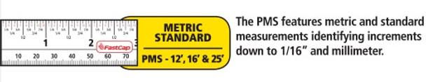 Fastcap Tape 12' Metric/Standard