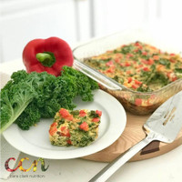 Pepper Kale Egg Bake