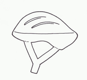 BICYCLE HELMET AERO WITH INSET