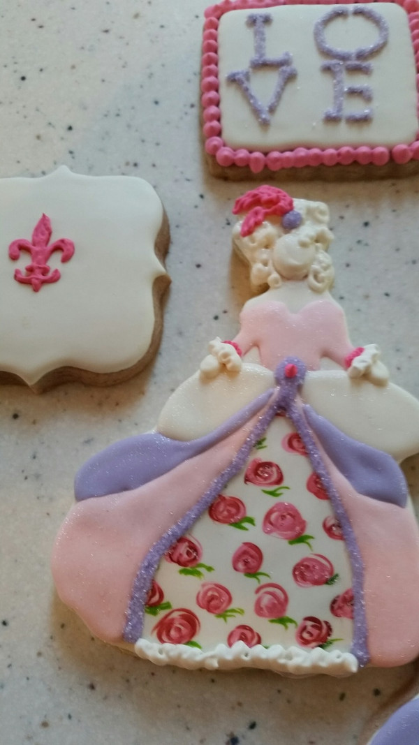 Decorated cookies by James Waters.