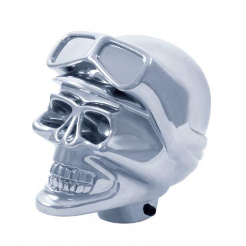 Gear Shift Knob Skull Biker Chrome Plated for Peterbilt, Kenworth, Freightliner