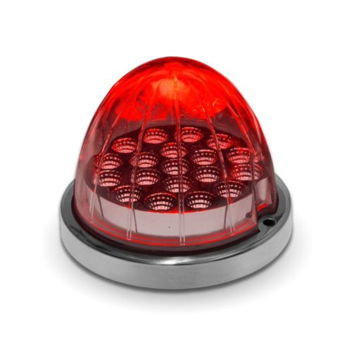 Red Watermelon (19 LED) Marker Turn Signal Light - Red Lens - Red LED