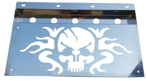 "SKULL Anti-Sail Light Box S.S. (PAIR) with 1-3/8"" "" Round Holes - No Lights"