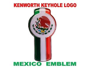 "Kenworth Keyhole (Chrome) TEXAS Emblem -  5-3/8"" x 2-7/8"""