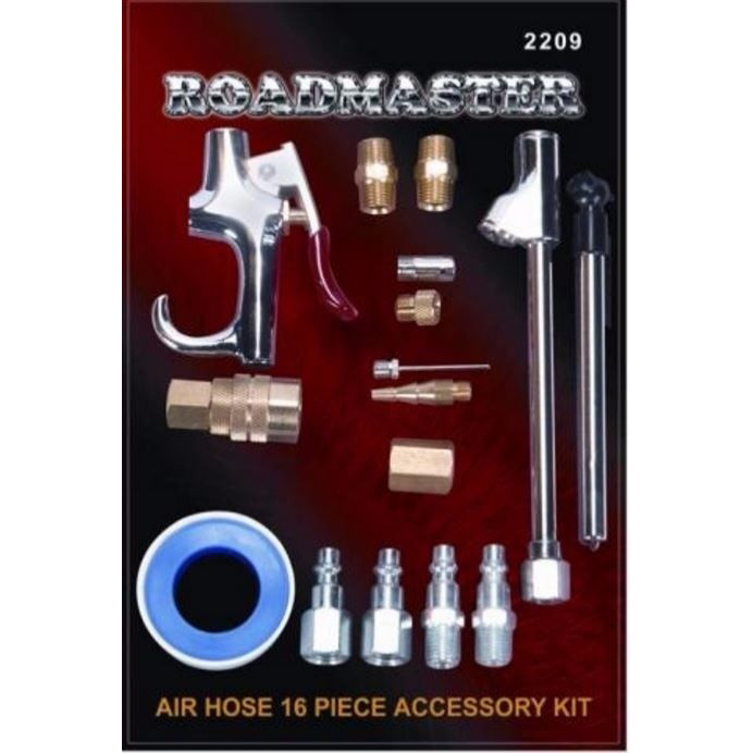 Air Hose Accessory Kit (16 PC) Tractor Trailers, Big Rig Trucks