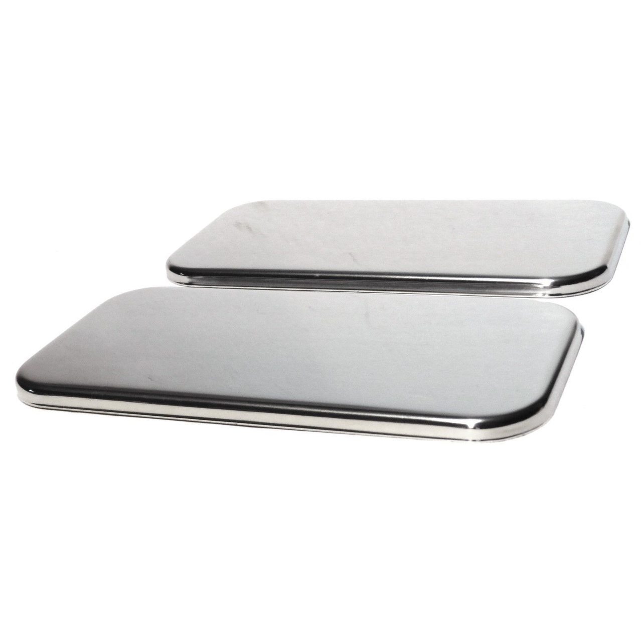 Sleeper vent door plain stainless steel covers for Freightliner Century Classic, Pair