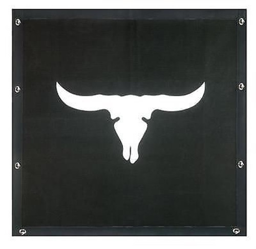 Cattle Skull Bug Screen - KENWORTH W900L (Extended Hood)