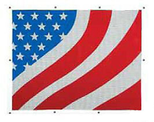 American Flag Bug Screen - FREIGHTLINER FLD 120/ FLD CLASSIC 1996 to present