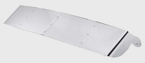 """13""""  STAINLESS STEEL DROP VISOR - KENWORTH T800 W900 (1984-1988)"""