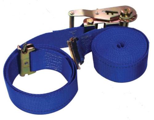 20ft E-Track Ratchet Blue Strap,  Set of 4