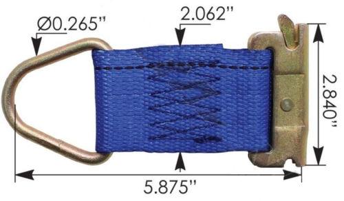 E-Track Tie Off Strap, Set of 4
