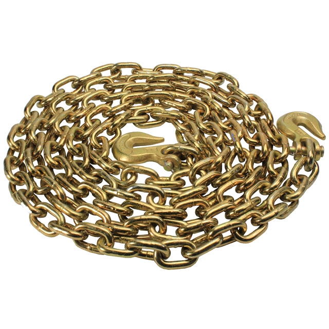 G70 CHAIN-5/16in x 20ft  WITH CLEVIS HOOKS WORKING LOAD LIMIT 4700 LBS