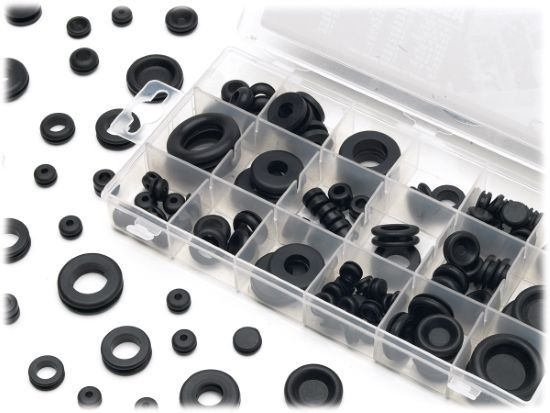 Rubber Grommet Assortment 125pc