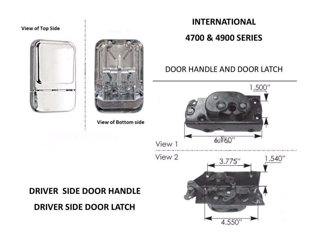 International 4700,4900 Series DRIVER SIDE Door Handle & Door Latch