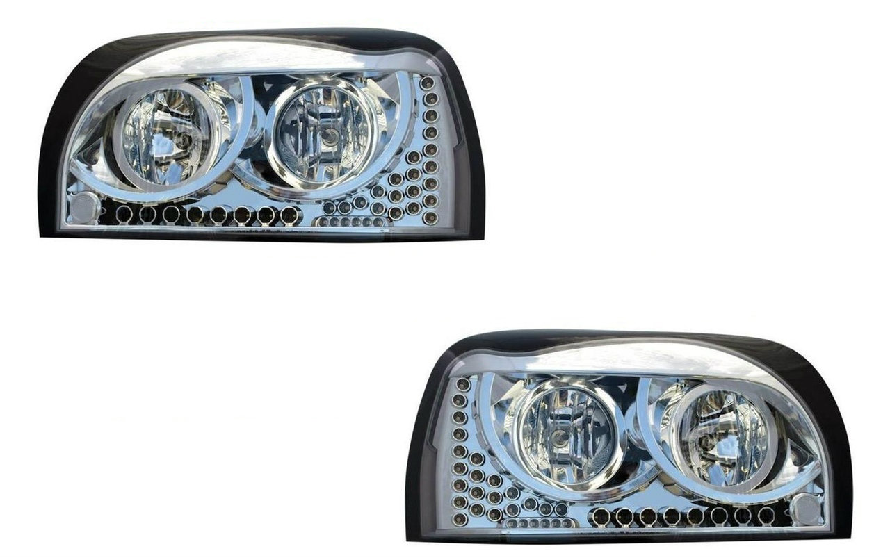Freightliner Century Headlight (SET) CHROME w/AmberLED DayLight &Turn Signal LED