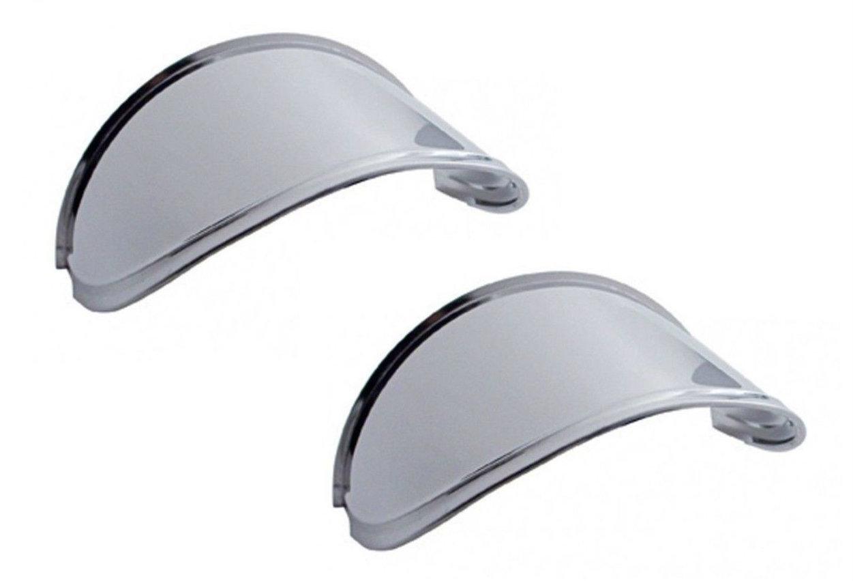 """Extended 7"""" Headlight Visor for Peterbilt - Kenworth (PAIR) Stainless Steel"""