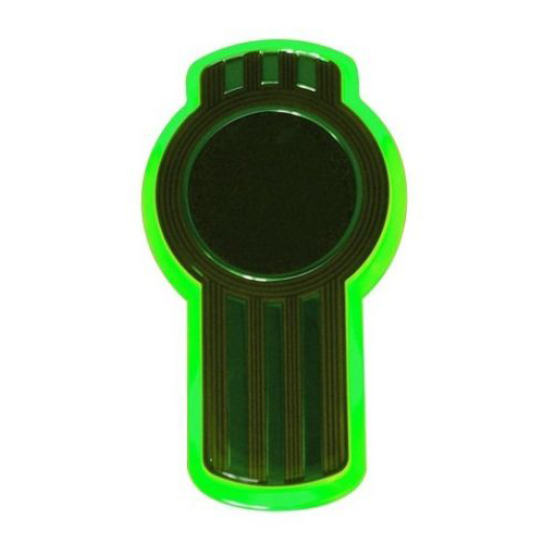 Kenworth hood emblem Green LED Keyhole light, New Design, Brighter Light