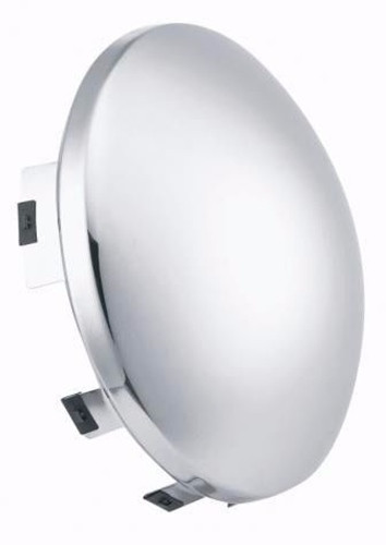 "Chrome Front Hub Cap with 3/4"" Lip (8-23/32"") Fits 4,5 & 6 Notch Hub Caps"