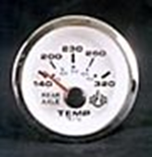 "Analog 320 Degree for Rear Differential Temp Gauge (2"" Diameter) Telex 64650"