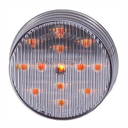 "Maxxima 2-1/2"" Round Clearance Side Marker light 13 LED Amber/Clear Lens"