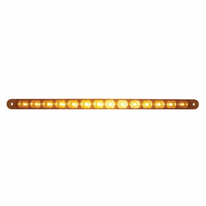 "14 LED 12"" Turn Signal Light Bar, Amber LED with Amber Lens, #38946"