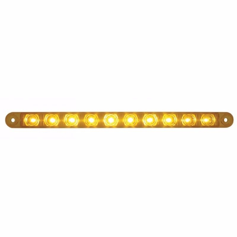 "10 LED 9"" Turn Signal Light Bar, Amber LED with Amber Lens, #38942"