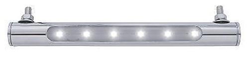 """8"""" White 6 LED Truck RV Trailer License Plate Light / Mirror Stainless Steel"""