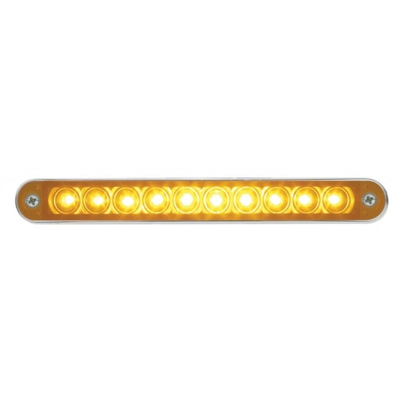 65 stop turn tail 10 led light bar with bezel amber led with 65 stop turn tail 10 led light bar with bezel amber led with amber mozeypictures Image collections
