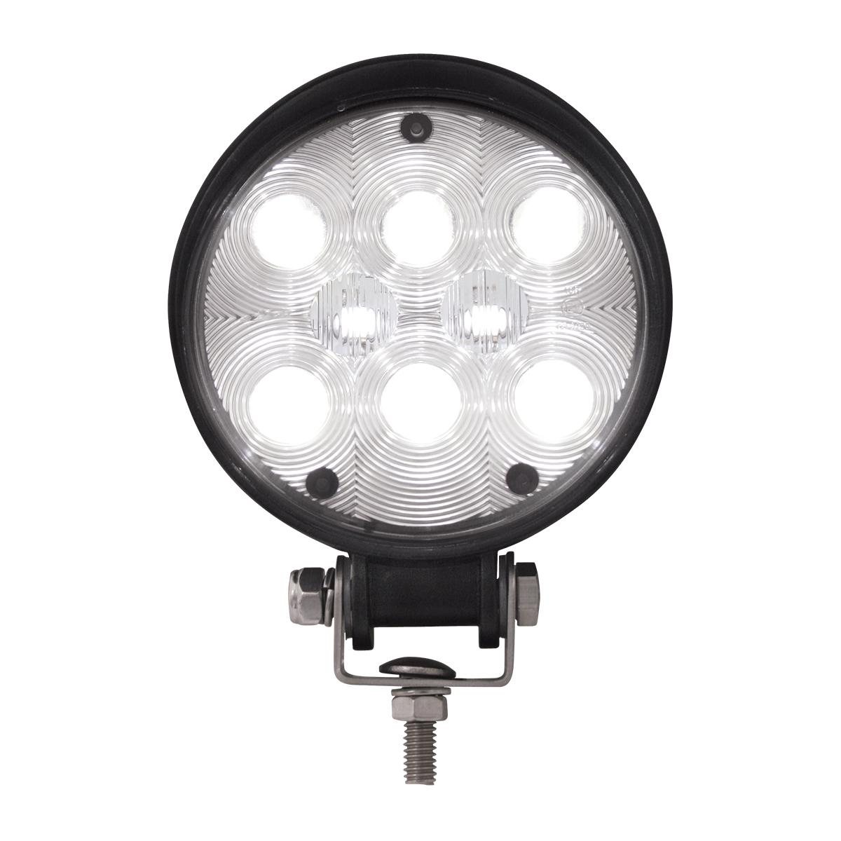 Round (8 LED) WORK LIGHT - High intensity White LED Truck Work Light
