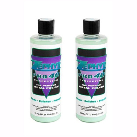 Zephyr Pro 40 Metal Polish, 16 oz  Bottle, Set of 2