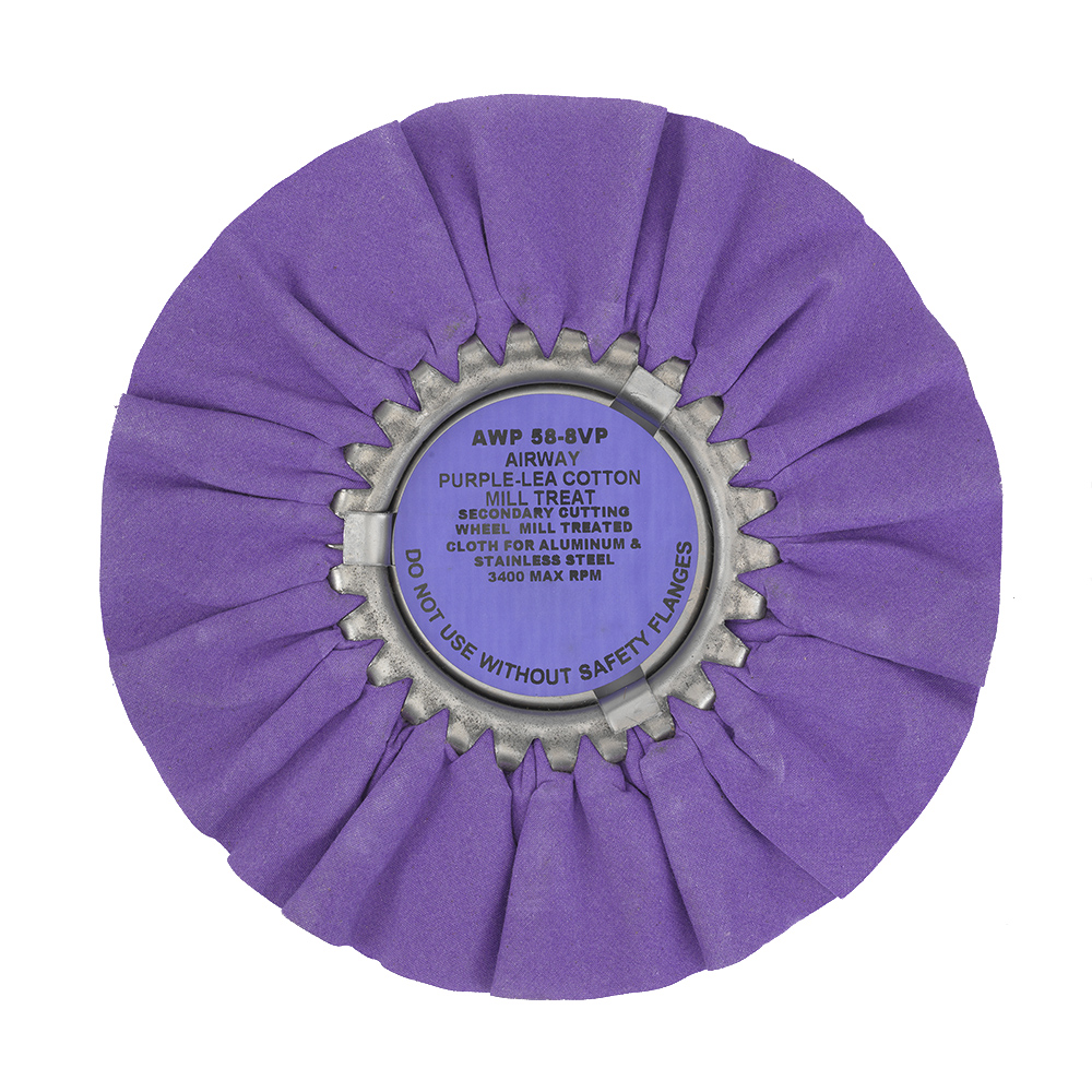 Zephyr Purple-Lea Airway Cotton Mill Treat 8‰Û_ - Secondary wheel for Aluminum & Steel