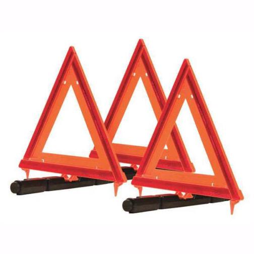 Reflective Triangle Warning Kit (Set of 3) Roadside Emergency