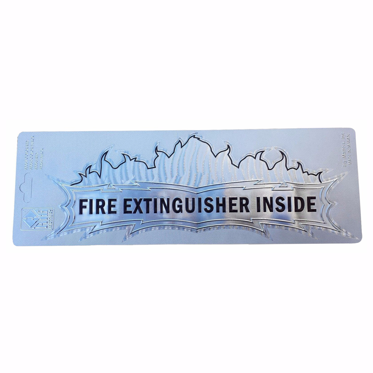 """""""Fire Extinguisher Inside"""" Foil Decal, 3""""x10"""""""