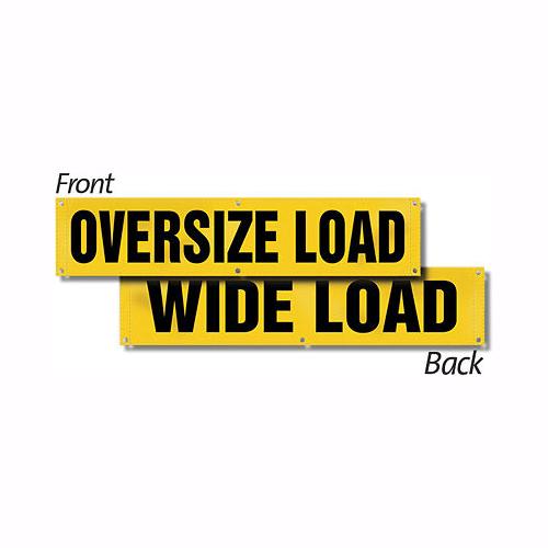 "Wide Load / Oversize Load Reversible Sign Banner, 18""x84"""