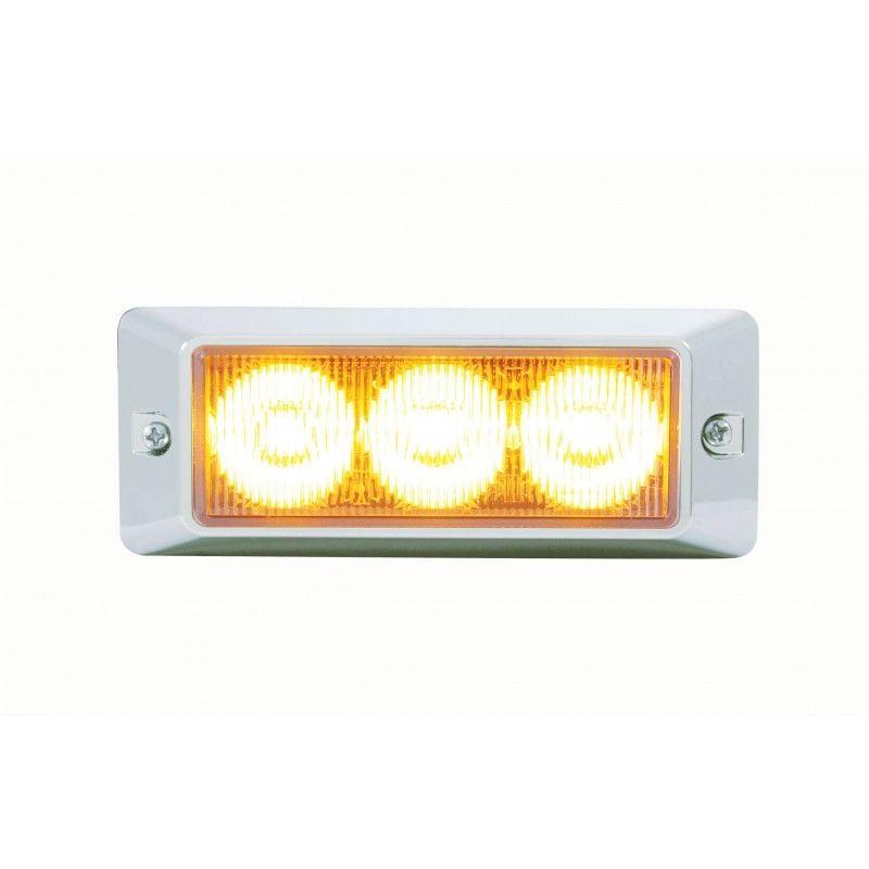 3 LED Warning Light, Amber