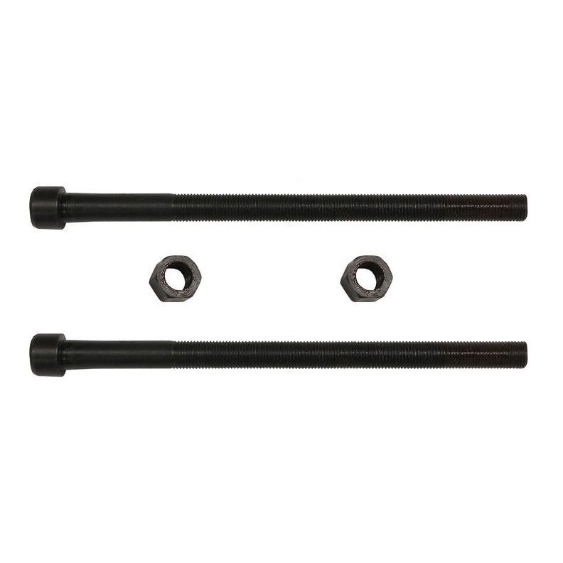Leaf Spring Center Bolt Pin - 3/8 x 6 (PAIR) Fine Threaded Leaf Bolts with Nuts