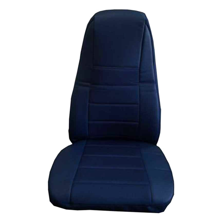 Blue Faux Leather Truck Seat Cover with Pocket