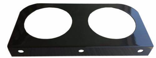 "Black L Mounting Bracket with 2 Round Holes for 4"" Lights"