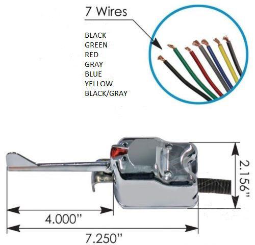 Universal 7 Wire CHROME Turn Signal Switch - Signal Stat 901