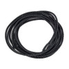 Stretch Elastic Shoelaces Curled Black
