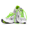 Lime Green Shoelaces in Shoes