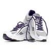Purple Shoelaces in Shoes