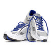 Blue Shoelaces in Shoes
