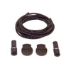 Black Stretch Elastic Shoelaces with Tension Lock