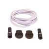 White Stretch Elastic Shoelaces with Tension Lock