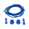Blue Stretch Elastic Shoelaces with Tension Lock