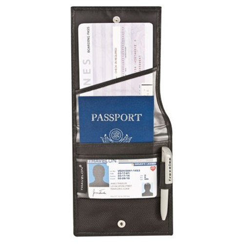Safe ID Classic ID and Boarding Pass Holder open