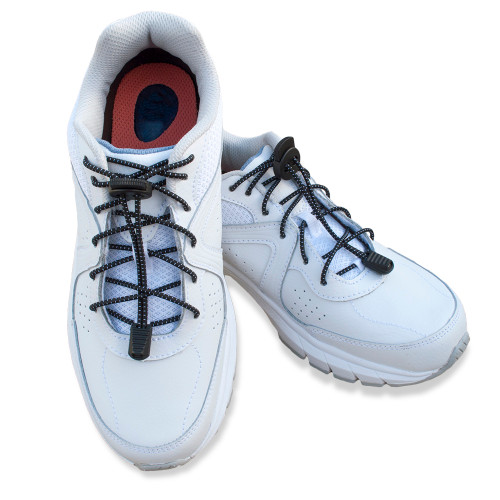 Black Shoelaces in Shoes