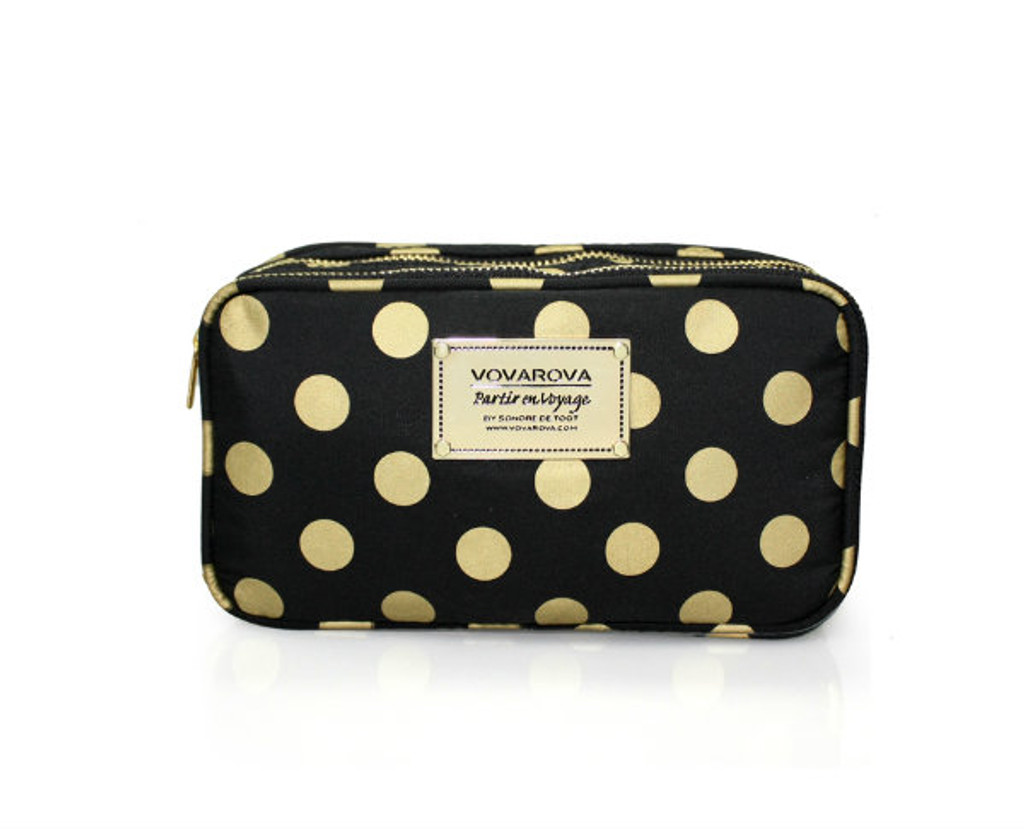 Compact Brush Case - Golden Dotty